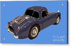 Classic Sports Blue Rear Acrylic Print