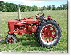 Classic Tractor Acrylic Print by Richard Bryce and Family