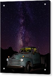 Classic Truck Under The Milky Way Acrylic Print