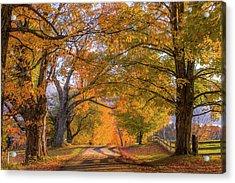 Classic Vermont Fall Acrylic Print