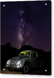Classic Vw Bug Under The Milky Way Acrylic Print