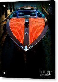 Classic Wooden Boat Acrylic Print by Perry Webster