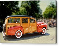 Classic Woody Station Wagon Acrylic Print by Roger Soule