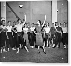 Classical Dance Class Acrylic Print by Underwood Archives