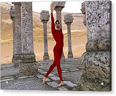 Dancer In The Desert Ruins Acrylic Print
