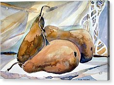 Classical Pears Acrylic Print by Mindy Newman