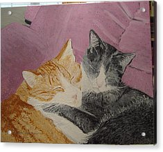 Claude And Chester Acrylic Print by Sharon  De Vore