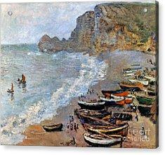 Claude Monet: Etretat, 1883 Acrylic Print by Granger