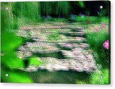 Acrylic Print featuring the photograph Claude Monets Water Garden Giverny 1 by Dubi Roman