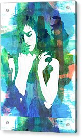 Claudia Nude Fine Art Painting Print In Sensual Sexy Color 4885. Acrylic Print