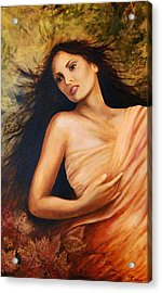 Claudia Acrylic Print by Patricia Ann Dees