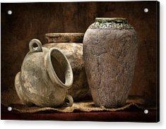 Clay Pottery II Acrylic Print by Tom Mc Nemar