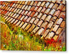 Clay Tiles Acrylic Print by George Rossidis