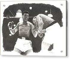 Clay Vs Liston 1 Acrylic Print