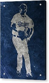 Clayton Kershaw Los Angeles Dodgers Art Acrylic Print