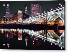 Acrylic Print featuring the photograph Cle In Selective Color by Frozen in Time Fine Art Photography