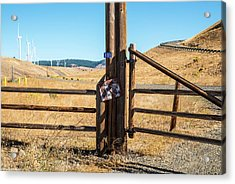 Clean Power And Old Ranch Gates Acrylic Print