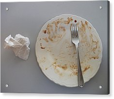 Clean Your Plate Acrylic Print by Joshua Sunday