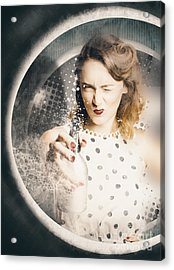 Cleaning Lady Killing Dirt And Grime Acrylic Print by Jorgo Photography - Wall Art Gallery