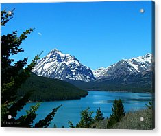 Clear Blue Lower Two Med Lake Acrylic Print