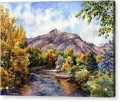 Acrylic Print featuring the painting Clear Creek by Anne Gifford