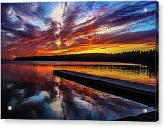Clear Lake At Sunset. Riding Mountain National Park, Manitoba, Canada. Acrylic Print