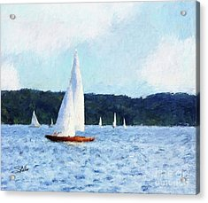 Clear Sailing Acrylic Print by Shirley Stalter
