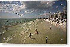 Clear Water Beach Acrylic Print by Patrick Ziegler