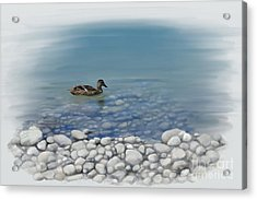 Acrylic Print featuring the painting Clear Water  by Ivana Westin