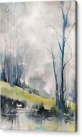 Clearing By The Riverbank Acrylic Print