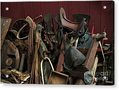 Clearing Out The Barn Study 1 Acrylic Print by Georgia Sheron