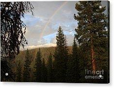 Clearing Rain And Rainbow Acrylic Print