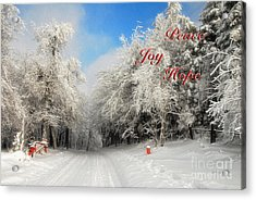 Clearing Skies Christmas Card Acrylic Print by Lois Bryan
