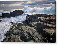 Acrylic Print featuring the photograph Clearing Storm At Bald Head Cliff by Rick Berk