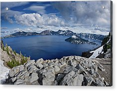 Clearing Storm At Crater Lake Acrylic Print