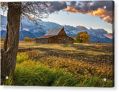 Clearing Storm Over Moulton Barn Acrylic Print by Darren White