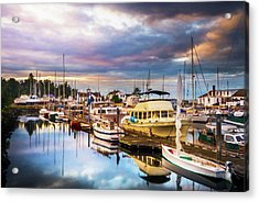 Clearing Storm Over The Pacific Ocean Acrylic Print by TL Mair