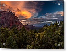 Clearing Storm Over Zion National Park Acrylic Print