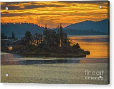 Clearlake Gold Acrylic Print