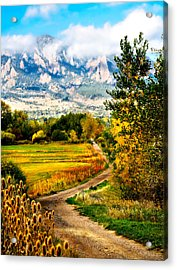 Clearly Colorado Acrylic Print by Marilyn Hunt