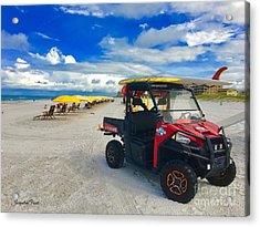 Clearwater Beach Lifeguard Atv Acrylic Print