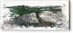 Cleft Rock Acrylic Print by Ronald Rosenberg