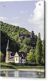 Clemenskapelle And Burg Reichenstein 02 Acrylic Print