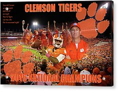 Clemson National Champs Acrylic Print