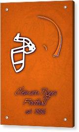 Clemson Tigers Helmet Acrylic Print