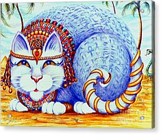 Acrylic Print featuring the drawing Cleocatra by Dee Davis