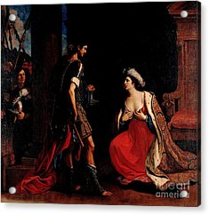 Acrylic Print featuring the painting Cleopatra And Octavian by Pg Reproductions