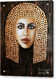 Acrylic Print featuring the painting Cleopatra by Arturas Slapsys