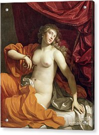 Cleopatra Acrylic Print by Benedetto the Younger Gennari