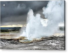 Clepsydra Geyser West Yellowstone National Park Usa Wy Acrylic Print by Christine Till